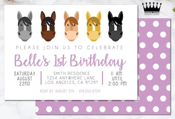 Printable Pony Ride Birthday Party Invitation