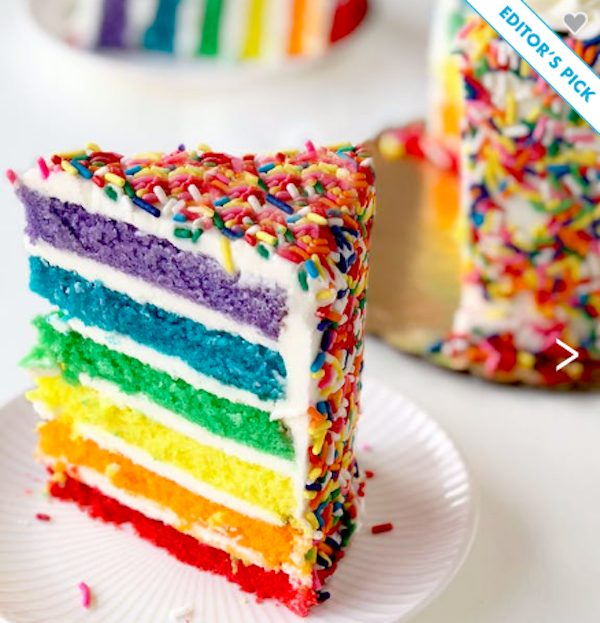 Send Hope and Joy Send a Rainbow Cake