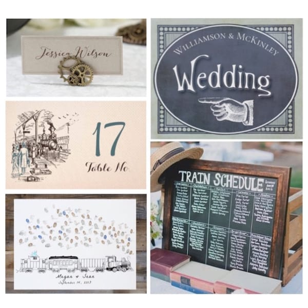 Steam Engine Train Themed Wedding Inspiration