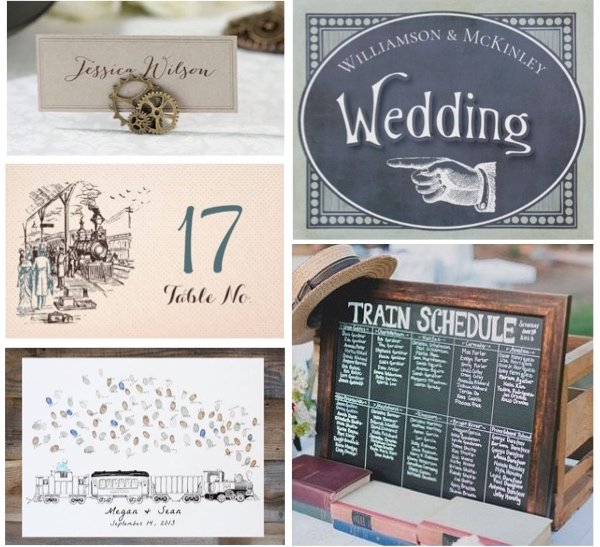 Steam Engine Train Theme Wedding