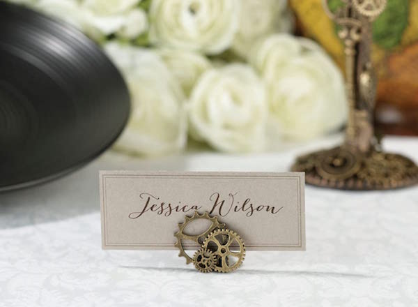 Steampunk Gears Table Name Card Holders