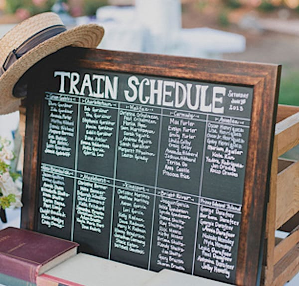 Train Schedule Seating Chart