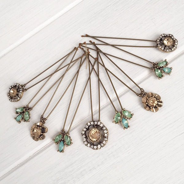 Steam Engine Train Theme Wedding Party Gifts - Vintage Hair Pins