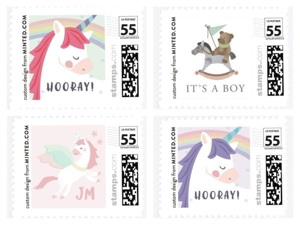Carousel Horse and Unicorn Stamps