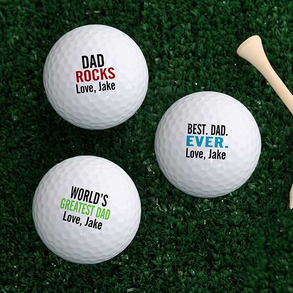 Best Dad Ever Golf Balls