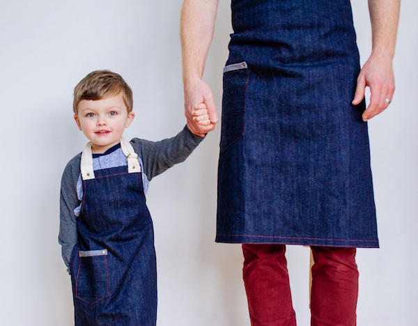 Custom Daddy and Me Aprons Father's Day Gift