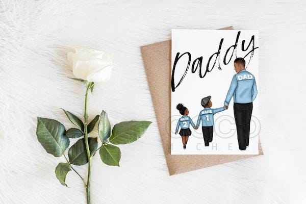 Customizable African American Father's Day Greeting Card
