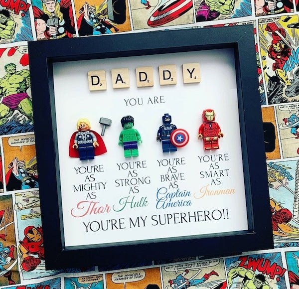 Daddy You Are My Superhero Shadowbox
