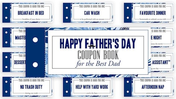 Father's Day Printable Coupon Book
