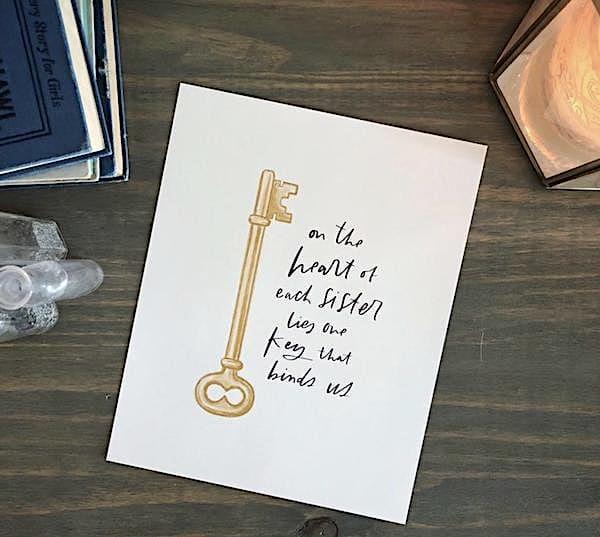 Kappa Kappa Gamma - Golden Key print