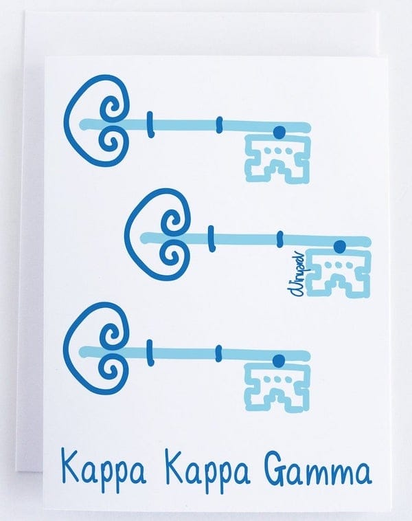 Kappa Kappa Gamma Key Sorority Notecard Set