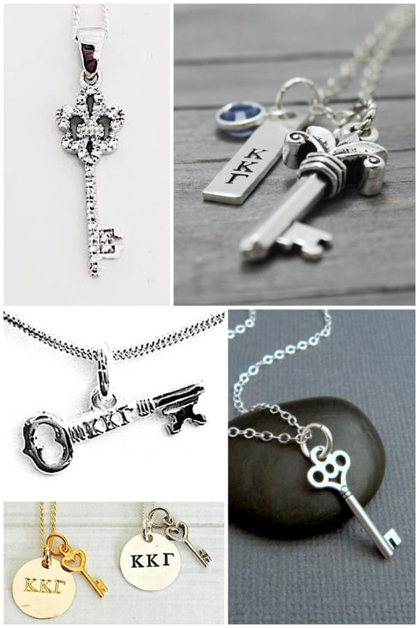 Keys for Kappas - Kappa Kappa Gamma Key Symbol Necklaces