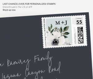 Last Chance for Personalized Postage Stamps