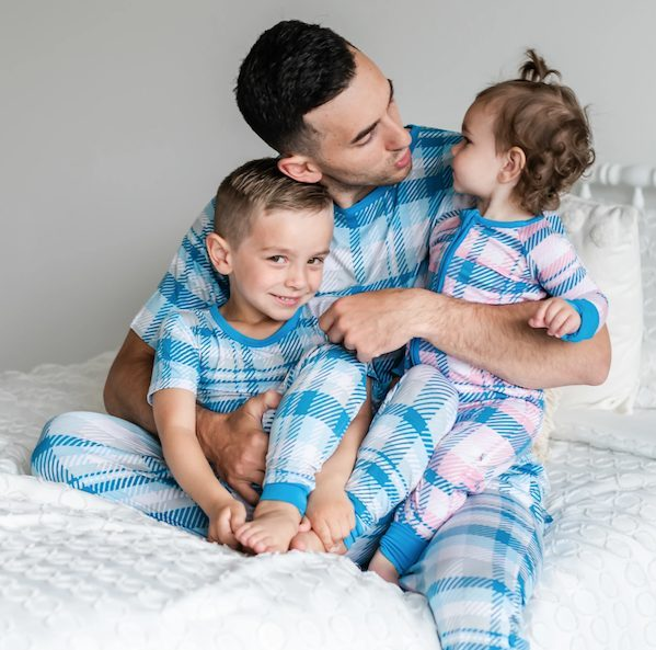 Matching Daddy + Me Plaid Pajamas