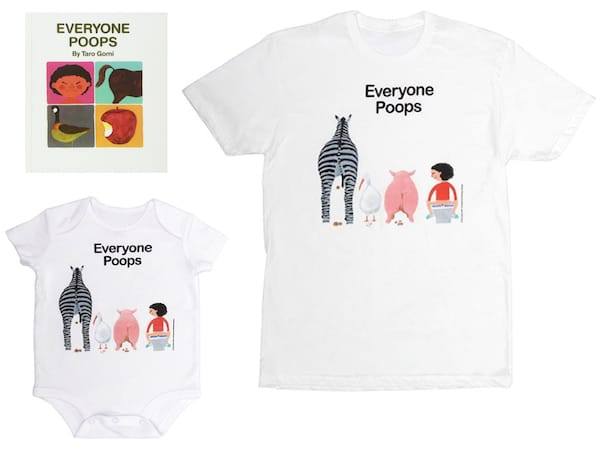 Mommy Daddy and Me Everyone Poops Gift Set