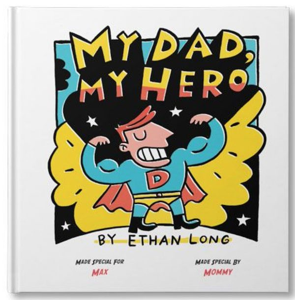 My Dad My Hero Customizable Book Matching Superhero Fathers Day Gift Ideas