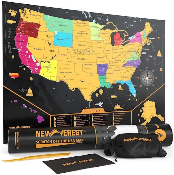 Newverest Scratch off Map Gifts for Dad Traveler