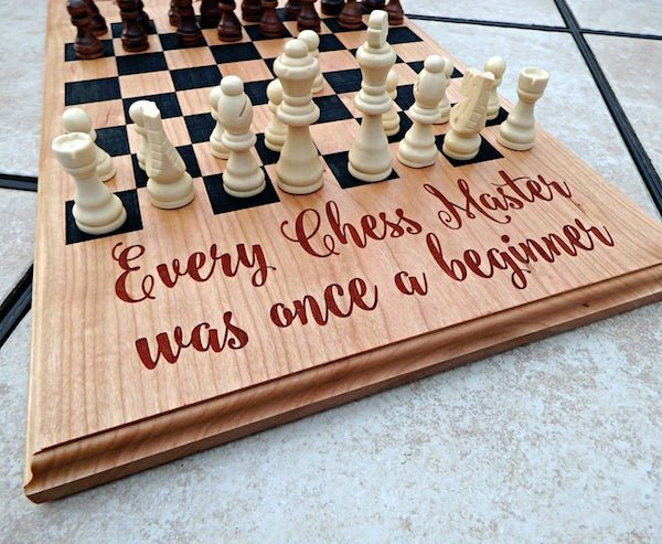 Personalized Chess Board Gift for Dad