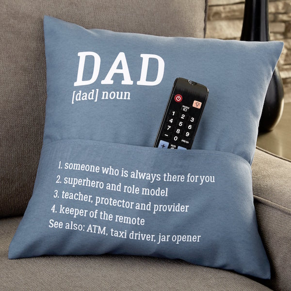 Personalized Pocket Pillow Gift for Dad