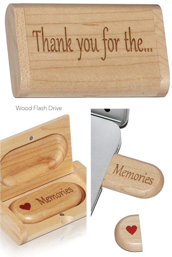 Thank Your for the Memories Wood Flash Drive