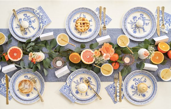 Toile of My Love Blue and White Tableware Set