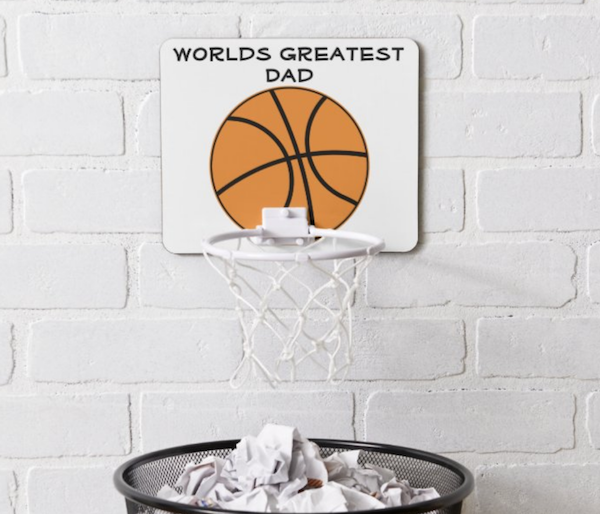 Worlds Greatest Dad Mini Basketball Hoop Father's Day Sports Gift