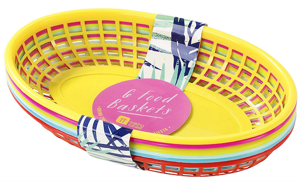 BBQ Multi Color Plastic Picnic Baskets