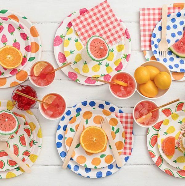 Fruit Punch Paper Goods Picnic Set
