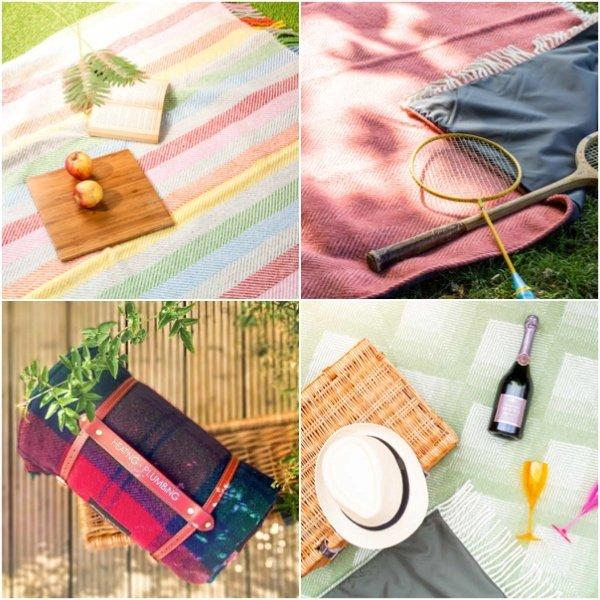 New Wool Waterproof Picnic Blanket