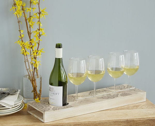 Personalized Wine Serving Tray for Picnics