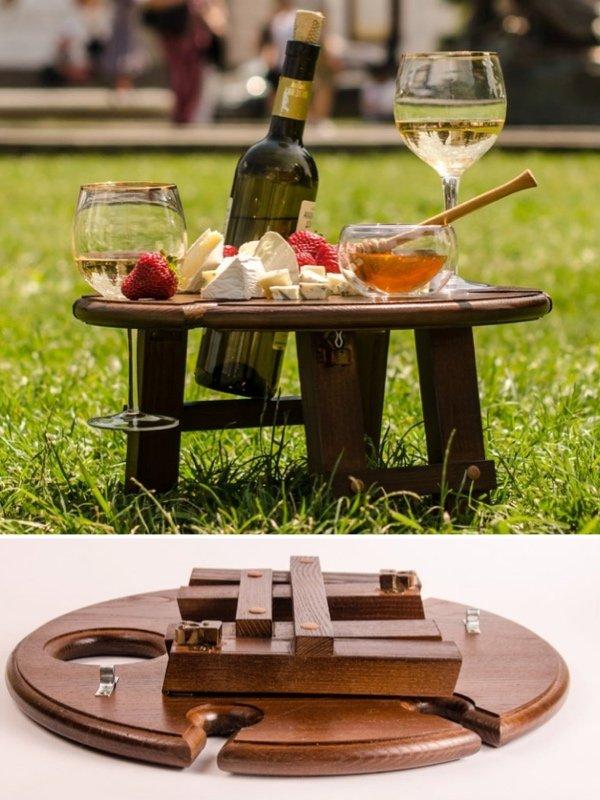 Portable Wine Picnic Table