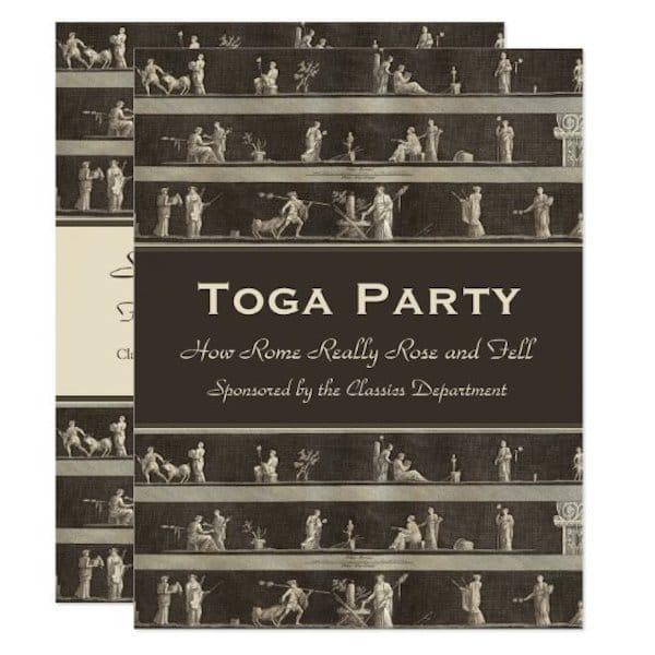 Toga Party Invite