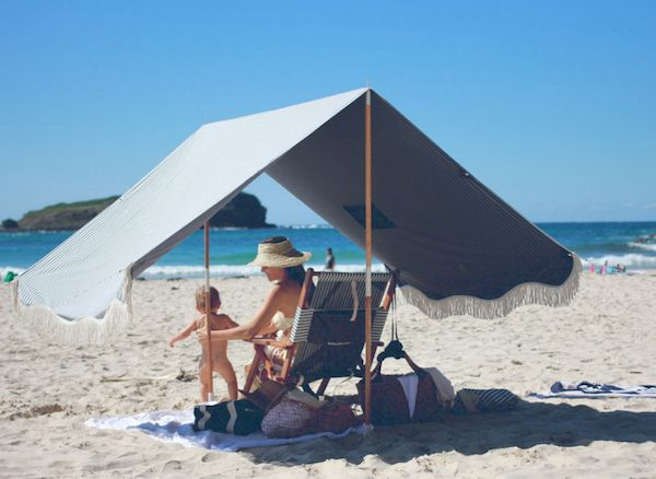 Vintage-Inspired French Riviera Beach Tents