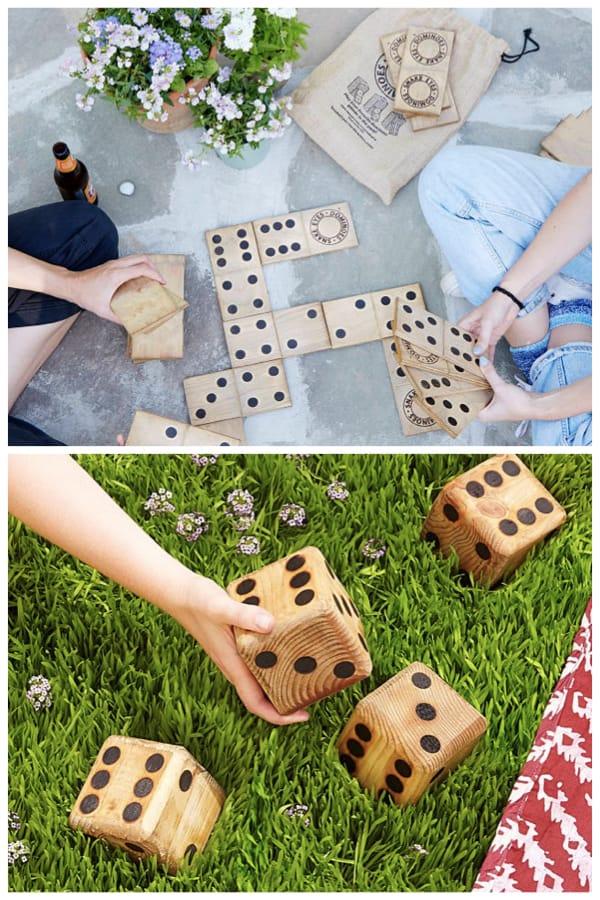 Yard Dice and Outdoor Dominos