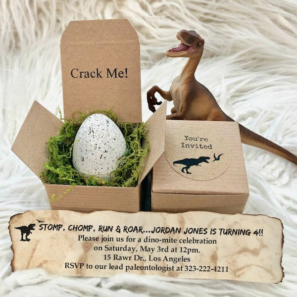 Crack Me Dinosaur Invitation