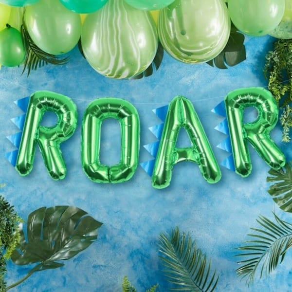 Roar Dinosaur Balloon Bunting