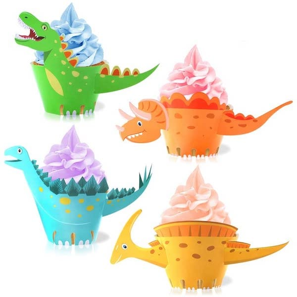 Dinosaur Shaped Cupcake Wrappers