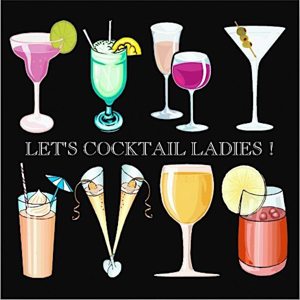 Let's Cocktail Ladies Night Party Invitations