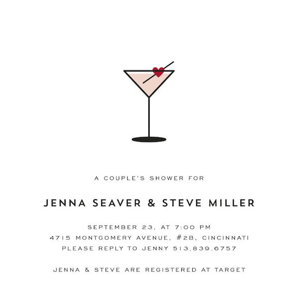 Love Cocktail Invitation