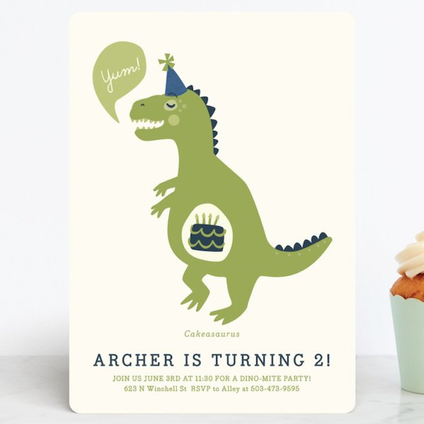 Personalized Dinosaur Invite