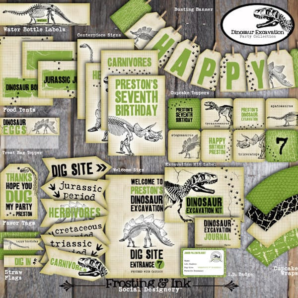 Printable Dinosaur Dig Decor