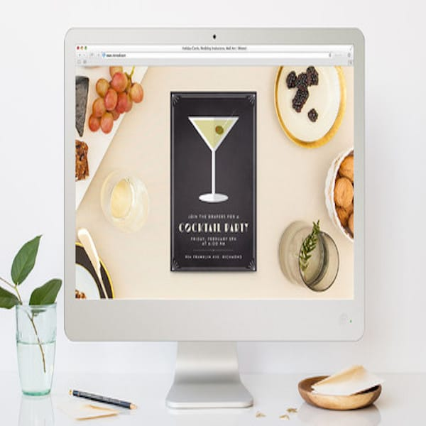 FREE Vintage Cocktail Soiree Online Invitation