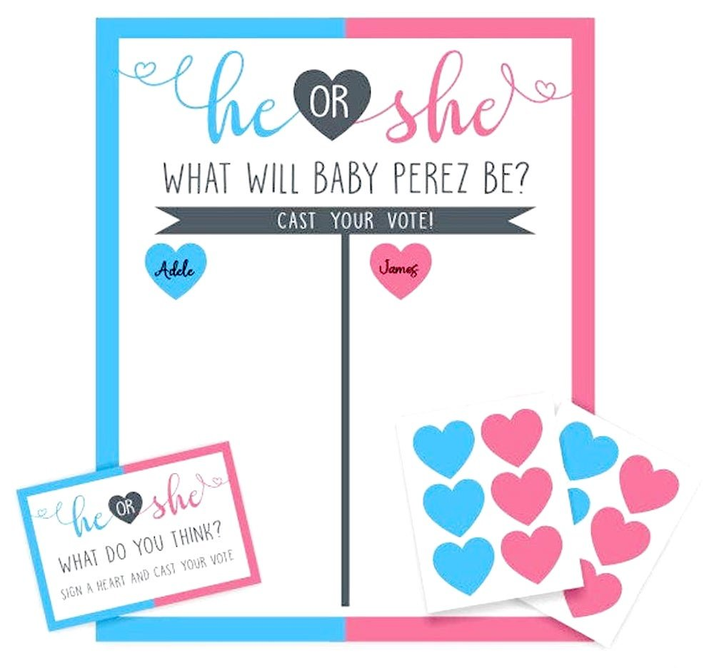 Baby Gender Reveal Party - Vote - He or She