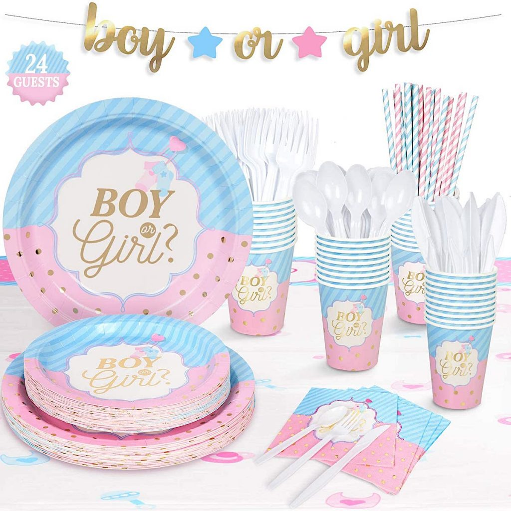 Boy or Girl Gender Reveal Baby Shower Supplies