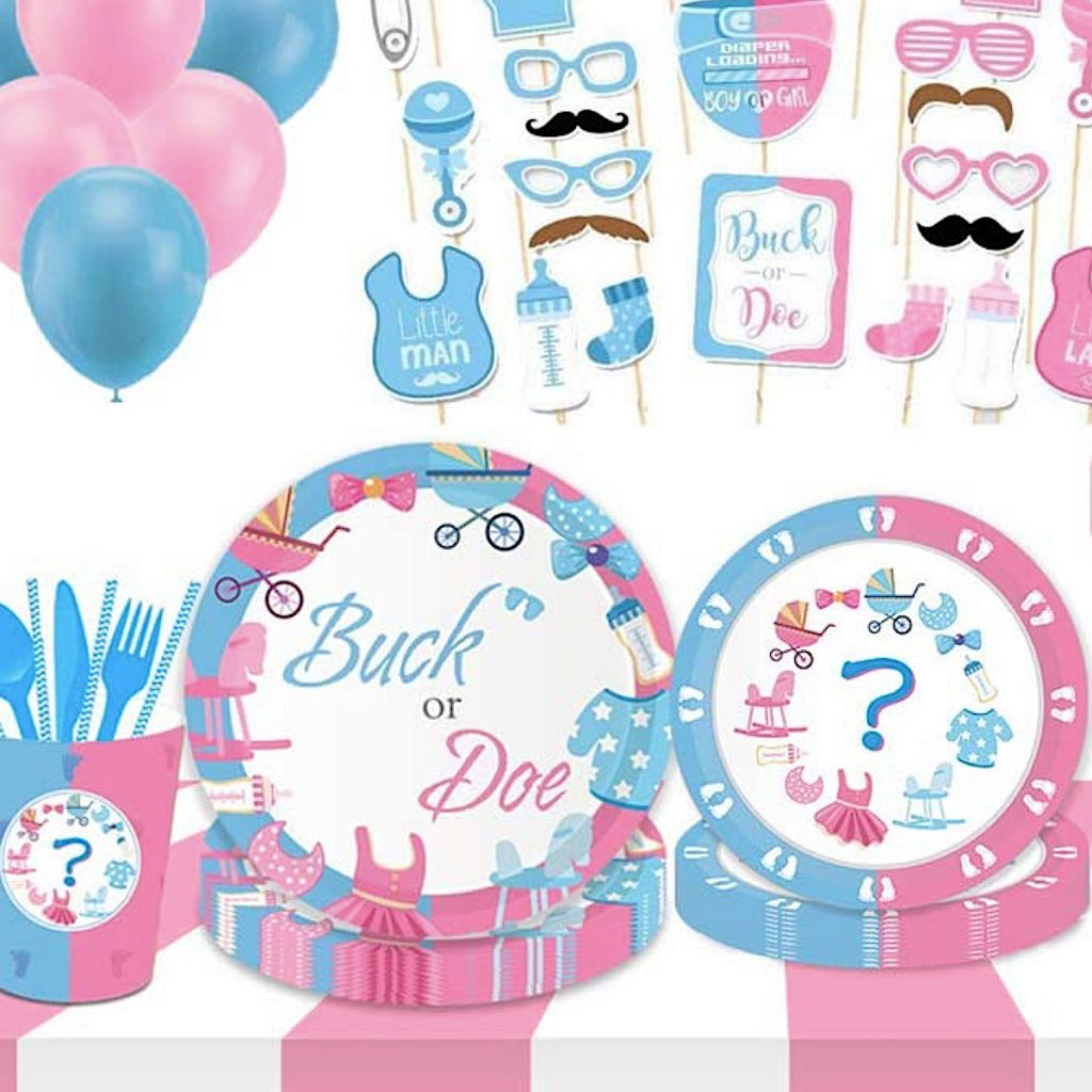 Buck or Doe Gender Reveal Baby Shower Supplies