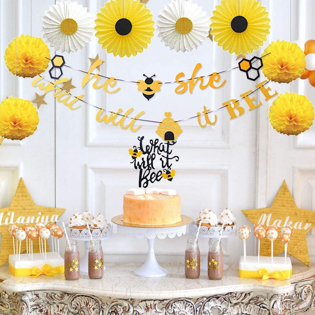 He or She? What Will Our Baby BEE Baby Shower Supplies