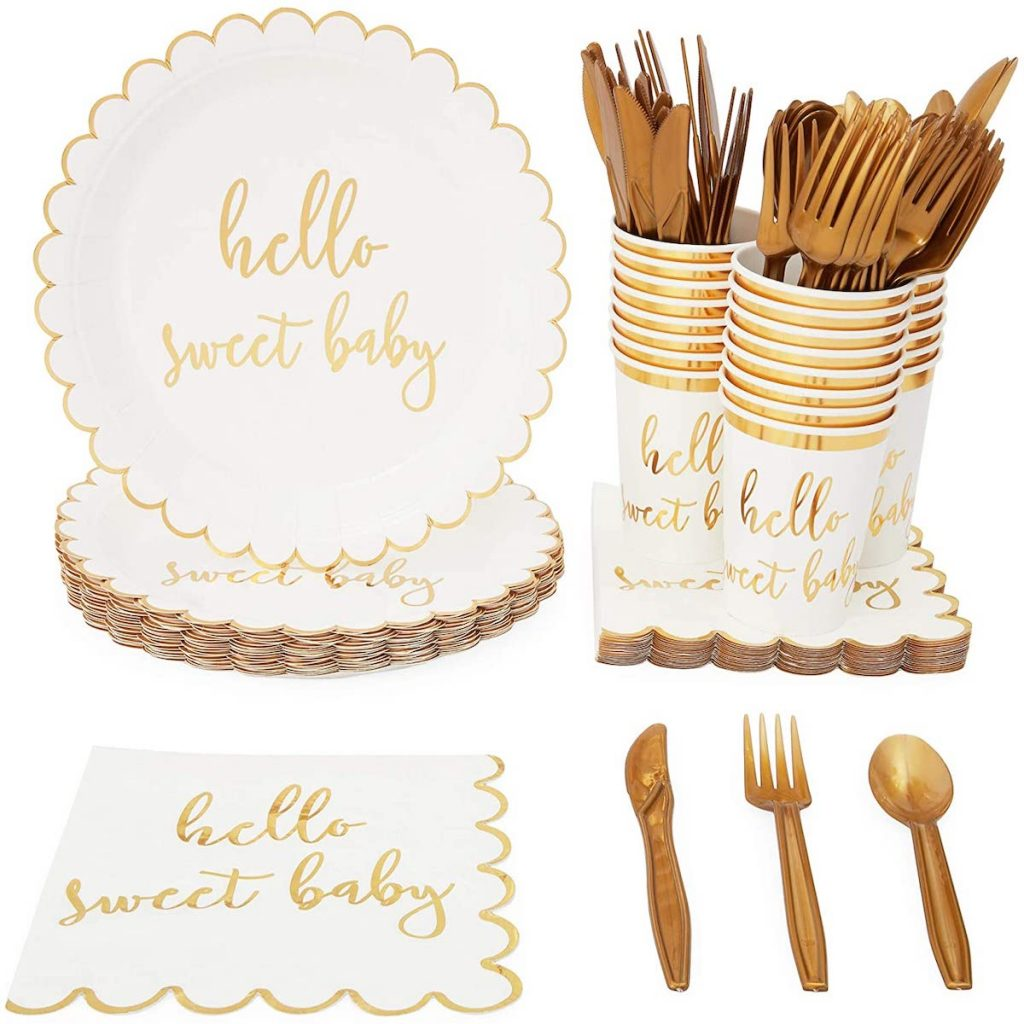 Hello Sweet Baby Baby Shower Supplies