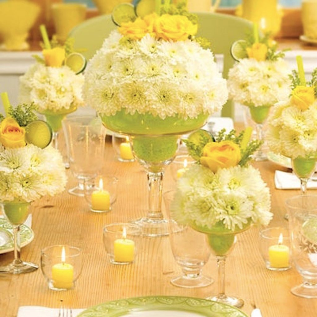 Ladies Night Theme Party Planning, Ideas & Supplies >> Cocktail Bouquet Centerpieces