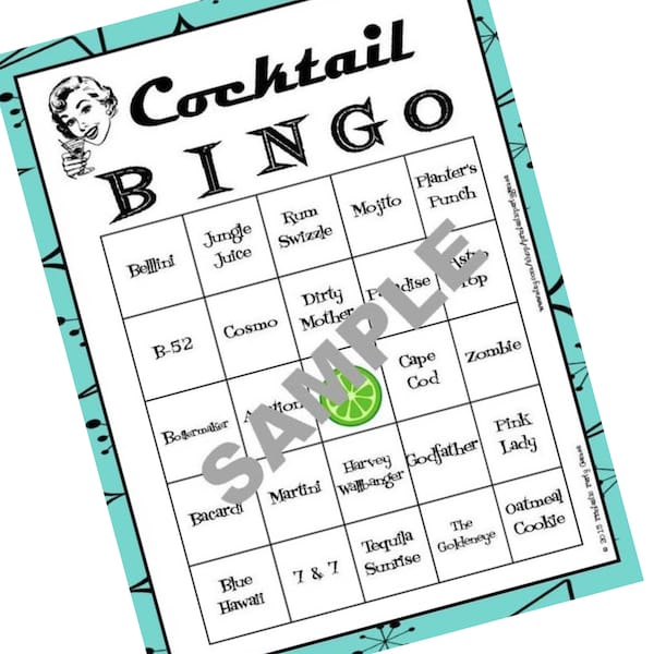 Printable Cocktail Bingo