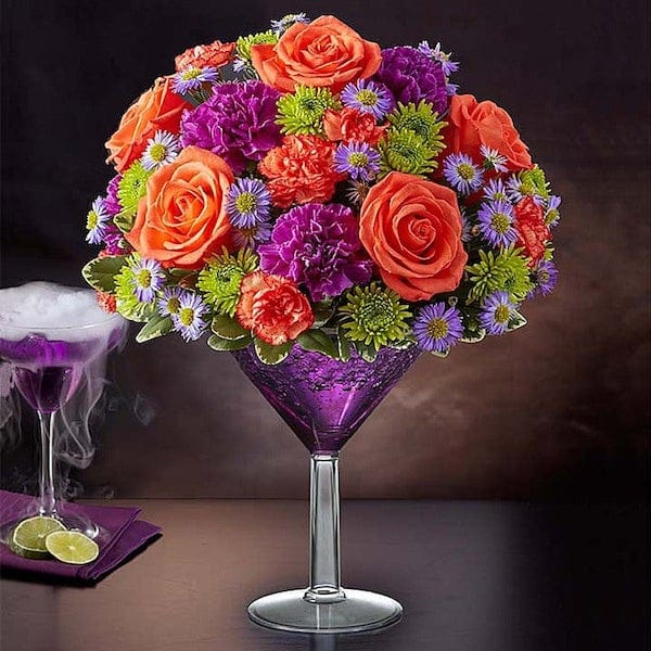 Purple Martini Happy Hour Floral Bouquet